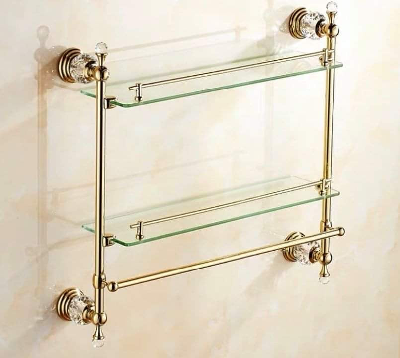 Bathroom Gold Shelf