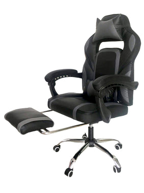 Basty Gaming Executive Office Chair w/ Foot Rest (Black)