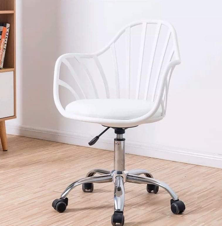 Jazel Swivel Office Chair (White)