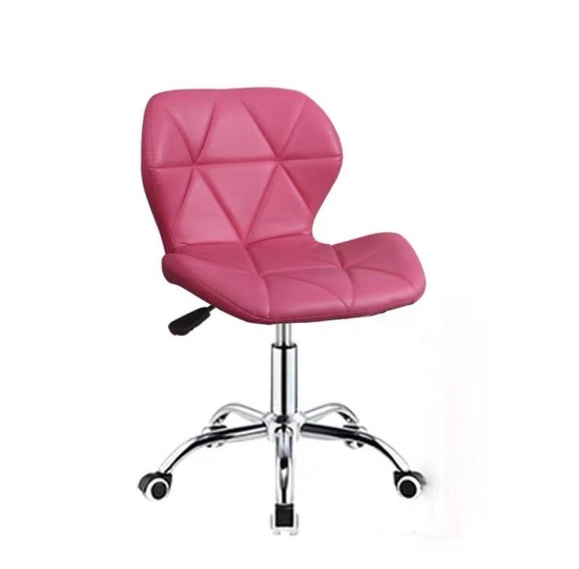 Zelda Quilted Swivel Office Chair (Fuschia Pink)