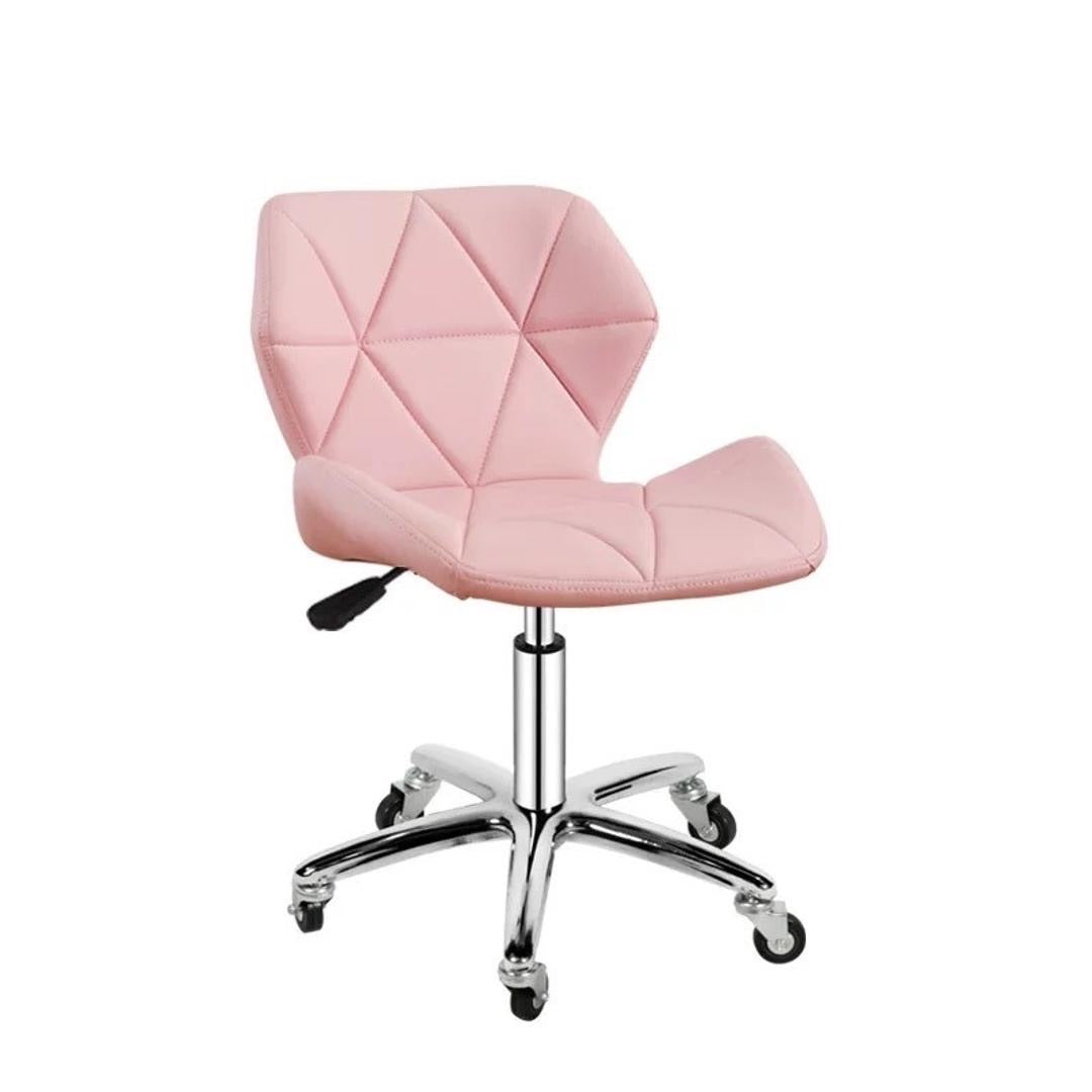 Zelda Quilted Swivel Office Chair (Light Pink)