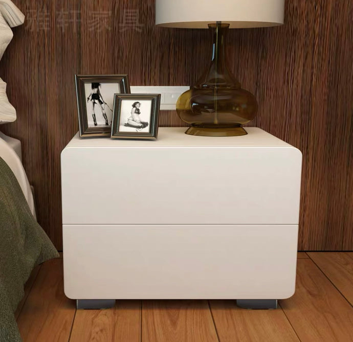Constance 2-Drawer Glossy Side Table