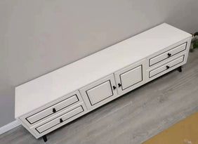 Levana Black & White TV Rack