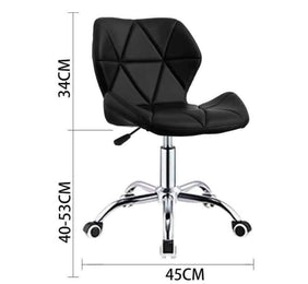 Zelda Quilted Swivel Office Chair (White)