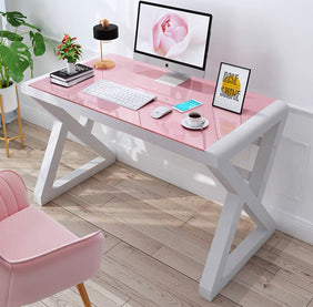 Winter White & Pink Office Table