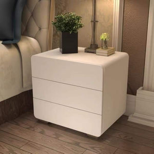 Yvette 3-drawer Glossy Side End Table