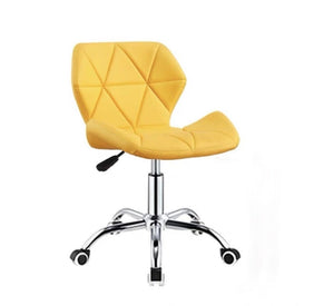 Zelda Quilted Swivel Office Chair (Yellow)