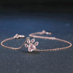 Cutest Paw Cut Created Natural Rose Quartz Bracelet - Corollaa
