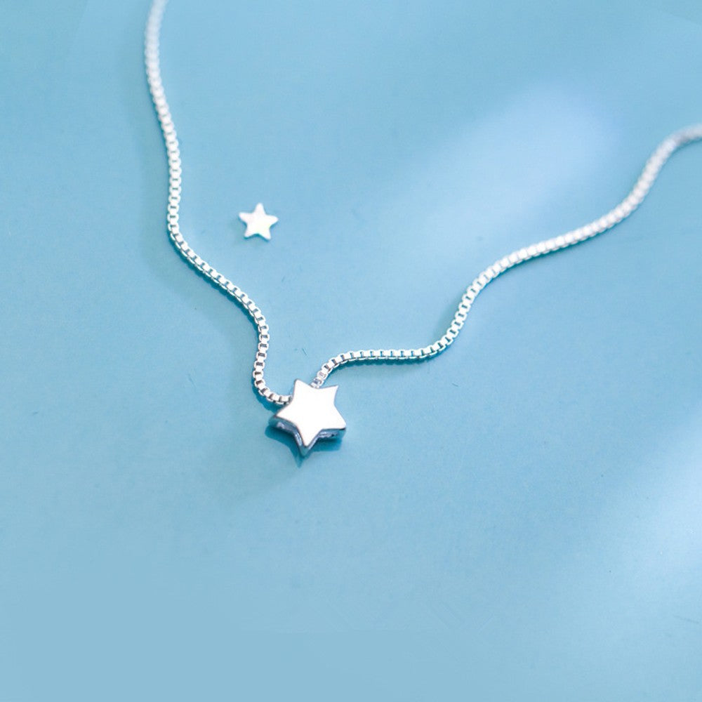 925 Sterling Silver Star Necklace / collier étoile