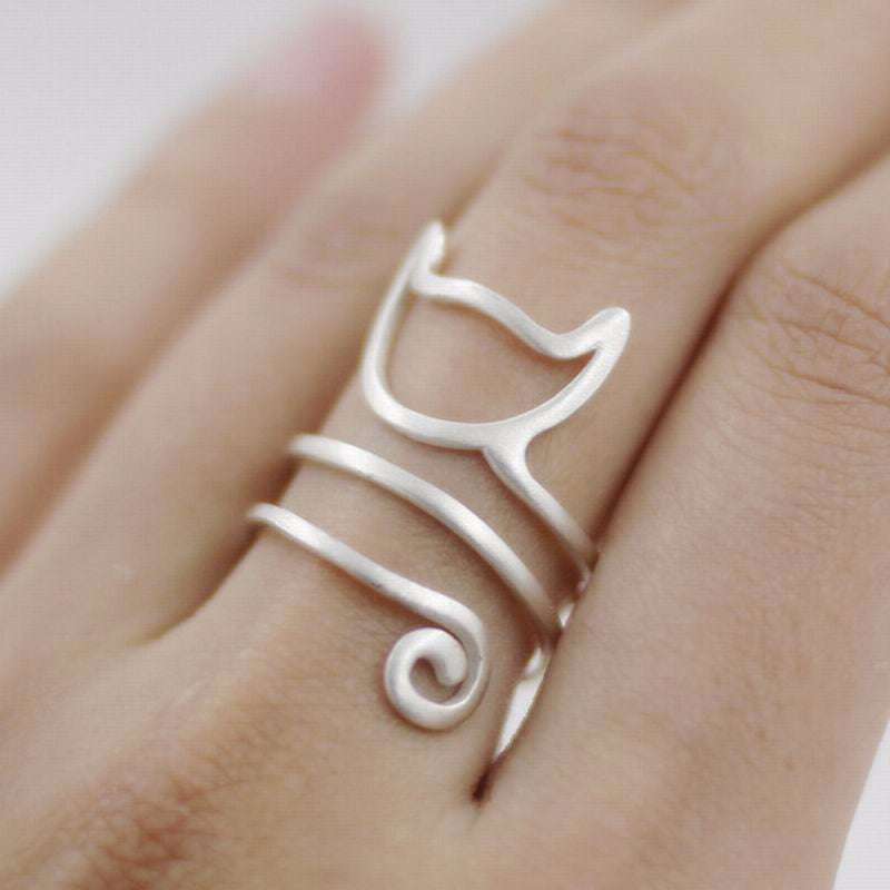 925 Sterling Silver Cat Ring - Corollaa