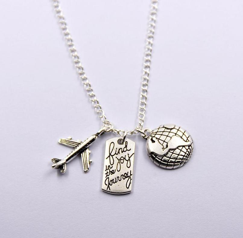 Enjoy Your Journey Travel Necklace - Corollaa