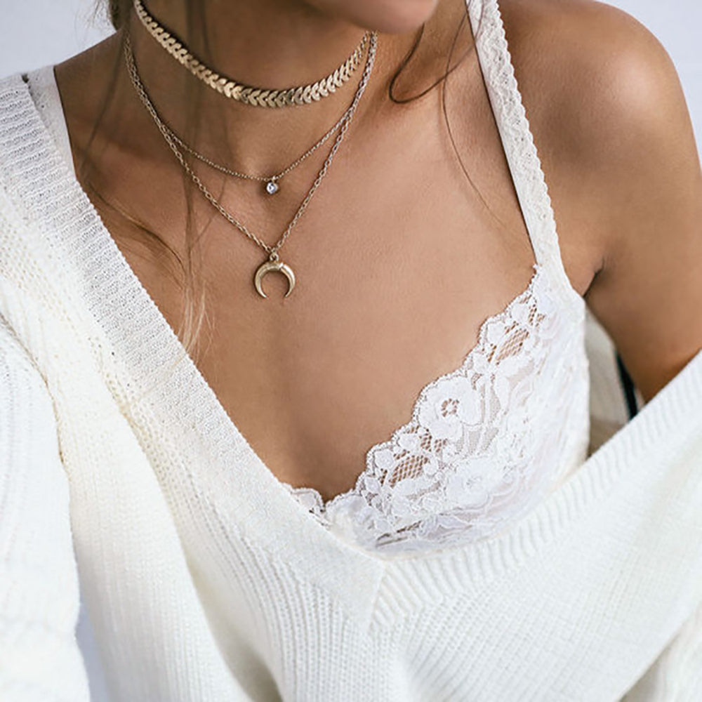 Multi-layer Moon Necklace
