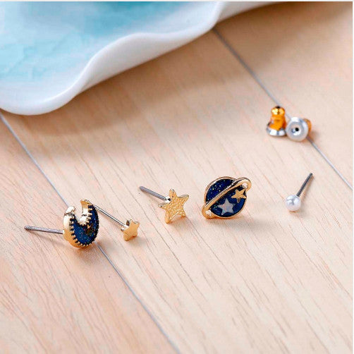 Super Cute Gold Plated Galaxy Earrings - Corollaa