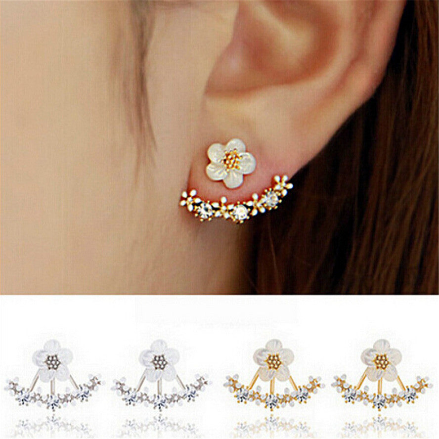 Trendy Cute Flower Stud Earrings for Women - Corollaa