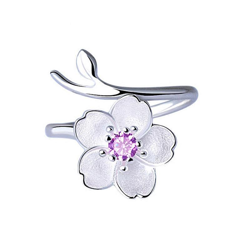 "Sterling Silver ""Cherry Blossom"" Ring - Corollaa"