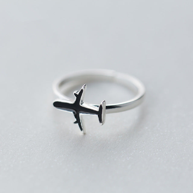 Sterling Silver Airplane Ring - Corollaa