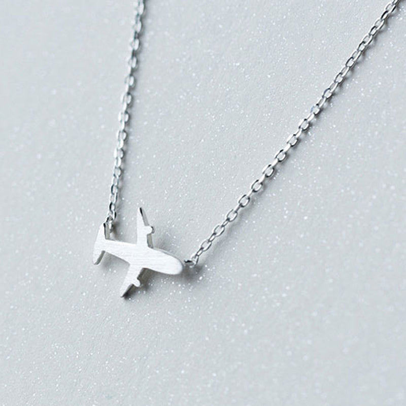 925 Sterling Silver Aircraft Necklace