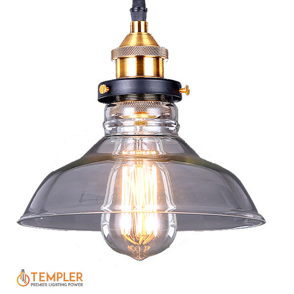 American rustic lamp templer lighting loft american antique rustic style restaurant vintage clear glass pendant lamp aloadofball Choice Image