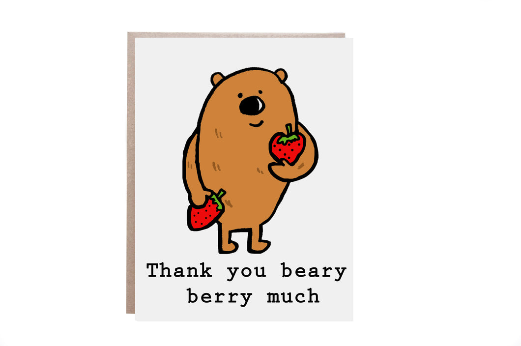 Thank You Beary Much Card