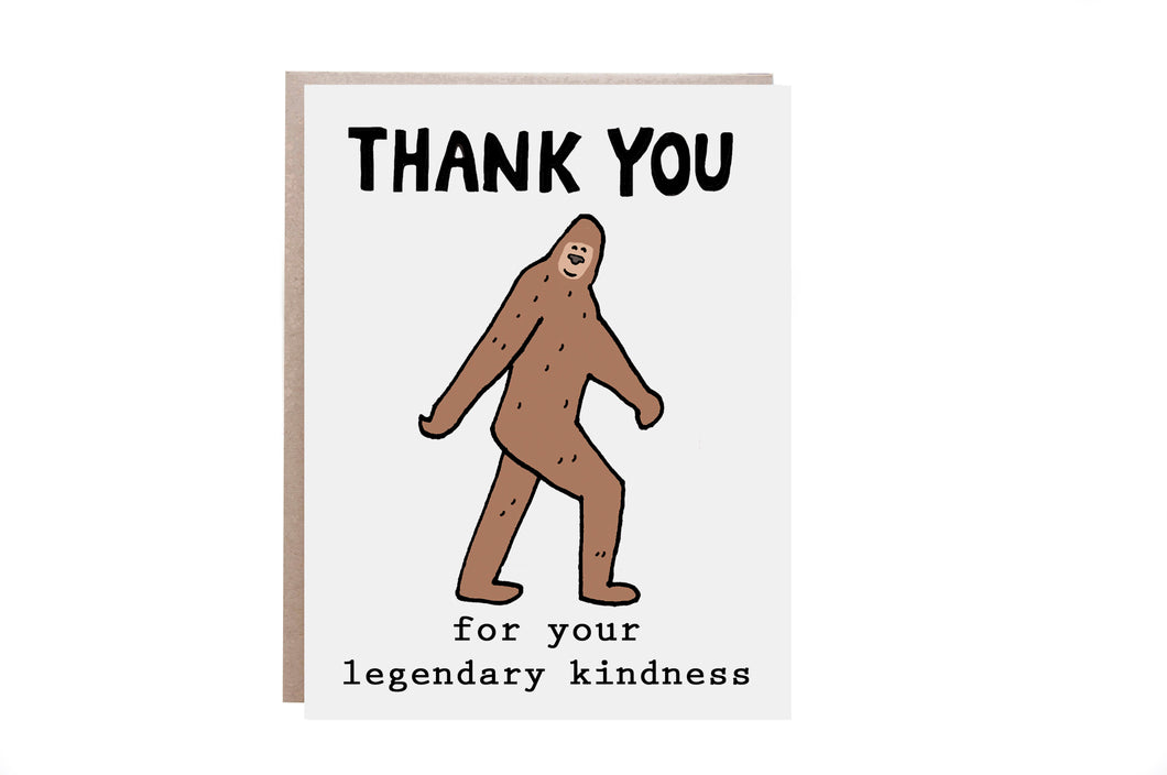 Big Foot Thank You Card