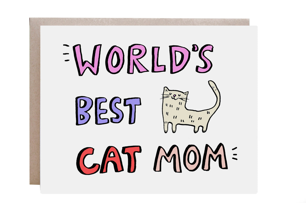 World's Best Cat Mom Card