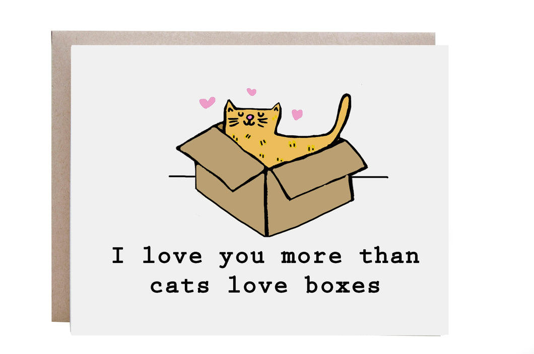 Love You More Than Cats Love Boxes