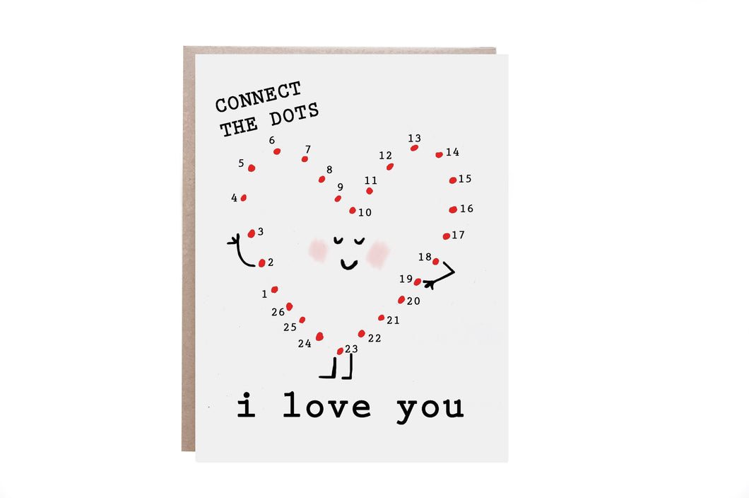 Connect the Dots Love Card