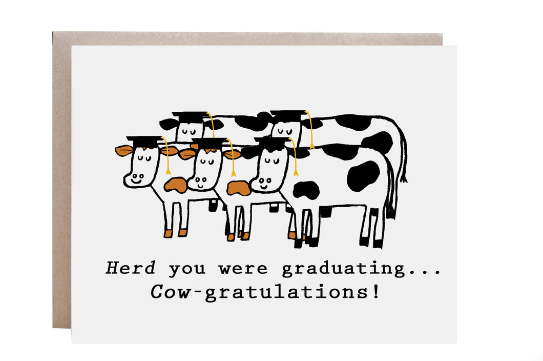 Cow Congratulations Card