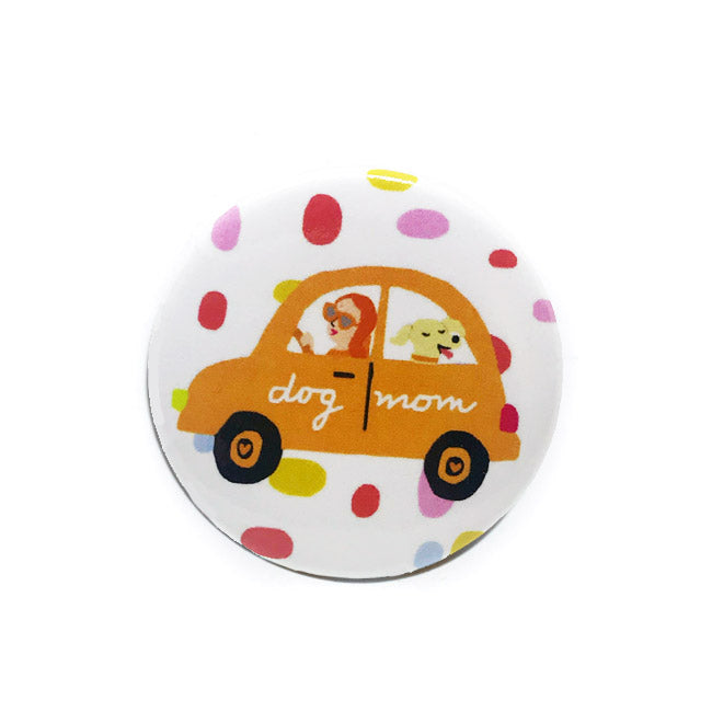 Dog Mom Pin, Orange