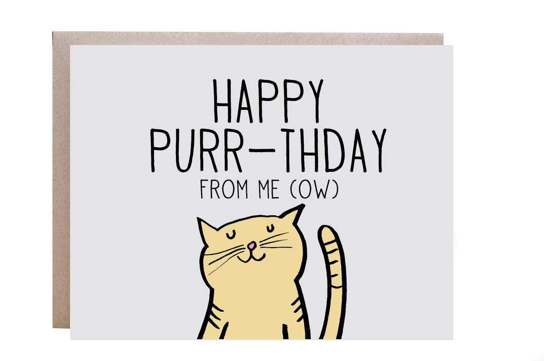 Happy Purr-thday Card