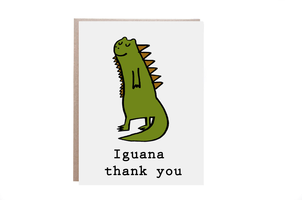 Iguana Thank You Card