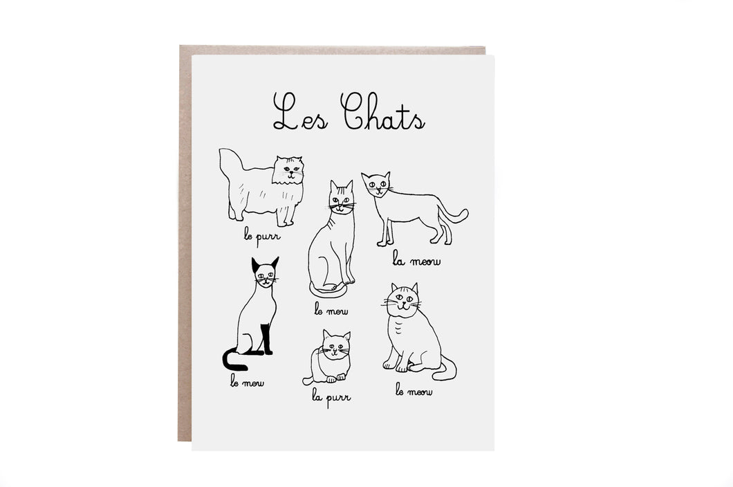 Les Chats Card