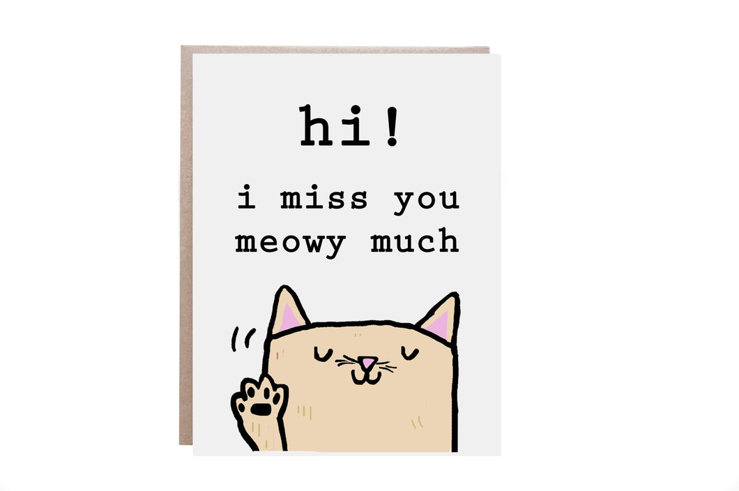Cat Miss You Card
