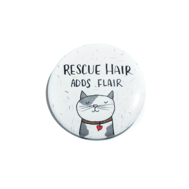 Rescue Cat Adds Flair Pin