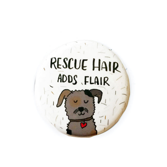 Rescue Dog Adds Flair Pin