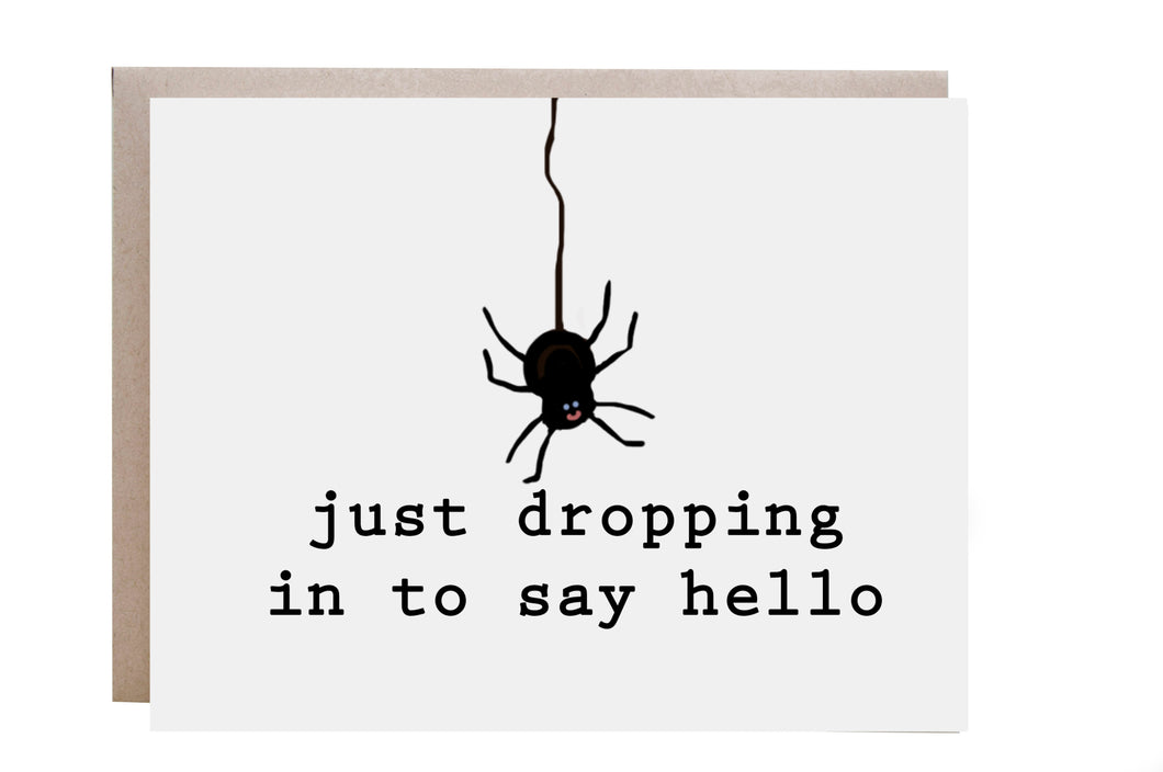 Hello Spider Card