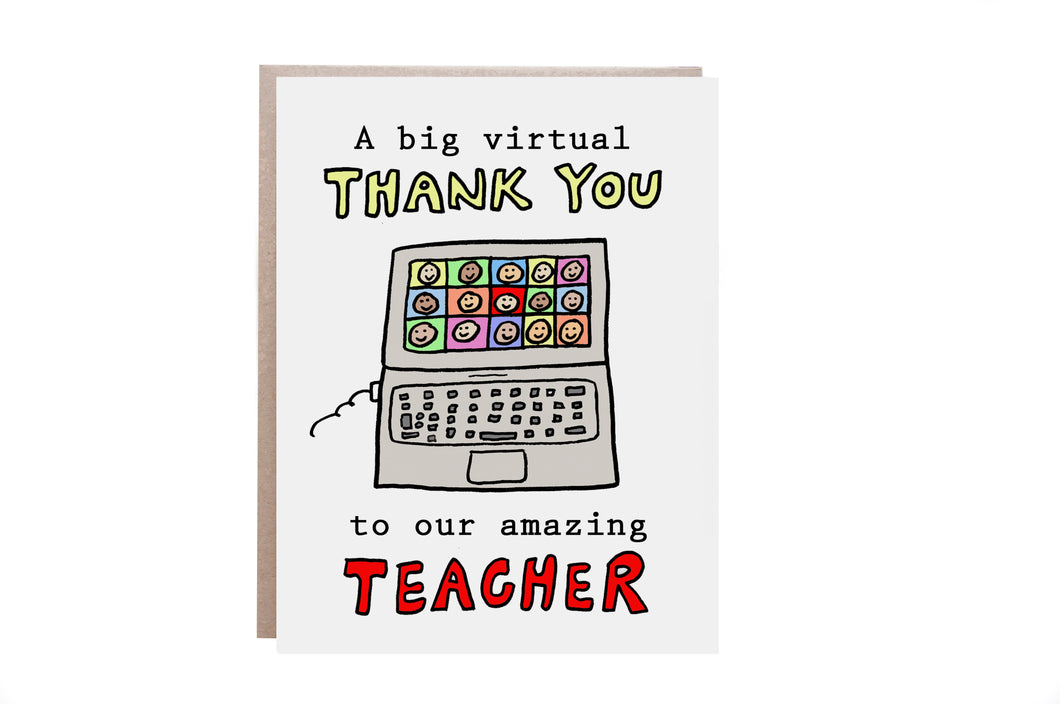 2020 Thank You Teacher Card