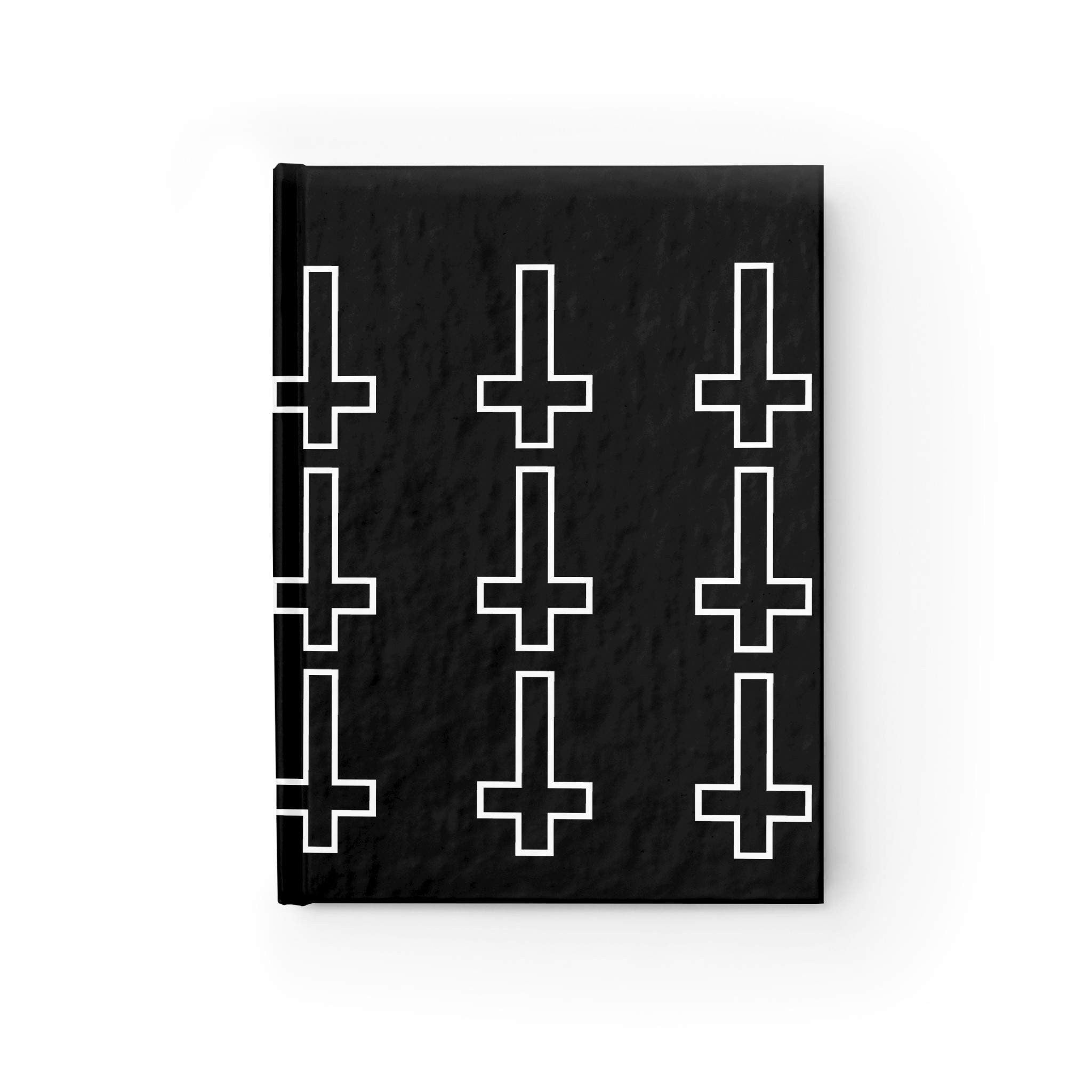 Spellcraft ,Paper products,Black & White Inverted Cross Hardcover Journal Shop FESTIVAL URBAN SEXY UNIQUE GOTH TRENDY FASHION