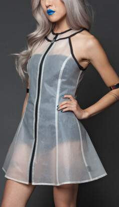 Spellcraft ,Dress,Standard Clone Sleeveless PVC Clear Dresses Shop FESTIVAL URBAN SEXY UNIQUE GOTH TRENDY FASHION