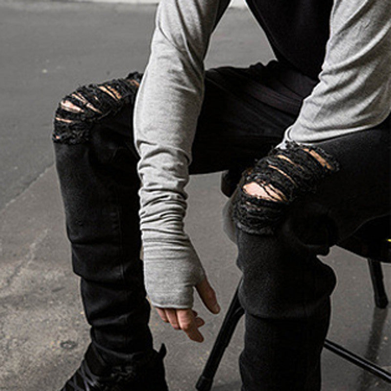 Destroyed Me Ripped & Damage Slim Street Jeans