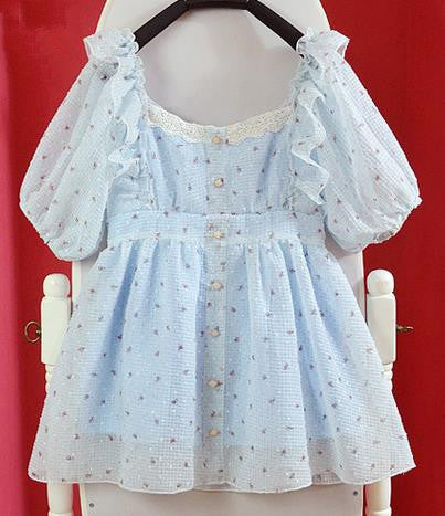 Kawaii Little Sister's  Dotty Lace Dress
