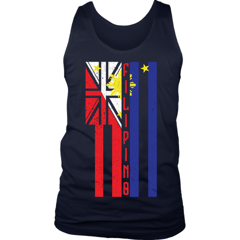 Hawaiian/Filipino Flag Infusion Mens Tank