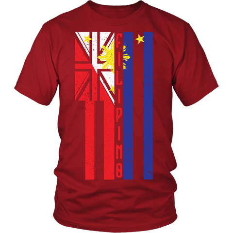 Hawaiian/Filipino Flag Infusion Mens Shirt