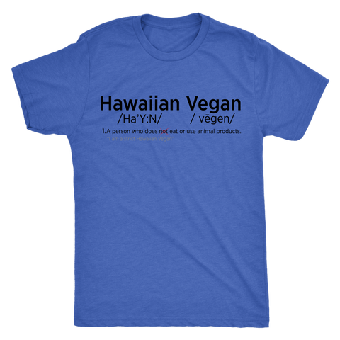 Mens Funny Hawaiian Vegan Shirt