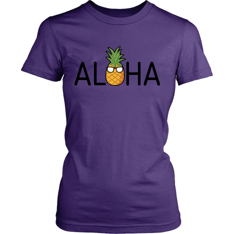 Aloha Pineapple Womens Shirt