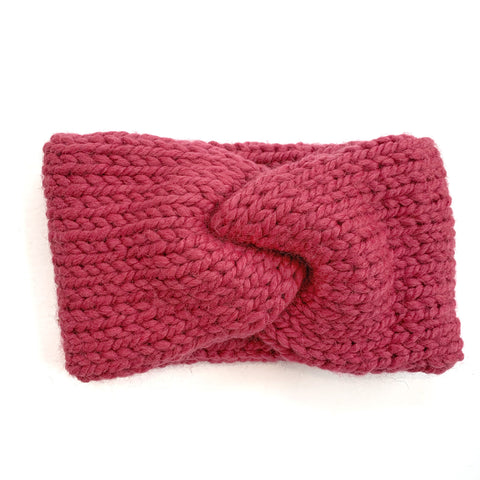 b.e.happe Chunky Headband | Raspberry