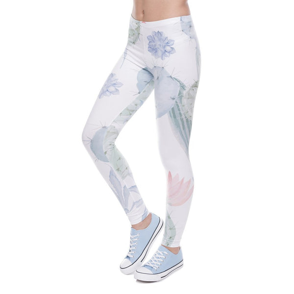 Leggings - Love Hurts Cactus Printed Leggings