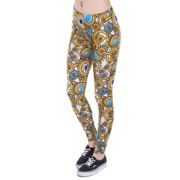 Leggings - Steam Punk Printed Leggings
