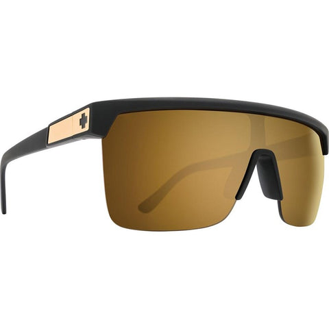 Flynn 5050 Matte Black Gold -HD Plus Bronze w/ Gold Spectra Mirror