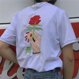 Rose Embroidery Shirt